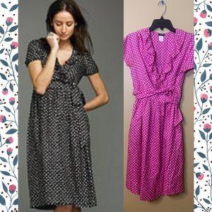 EUC J Crew Silk Fontana Dress, pink/fuschia, Sz 6